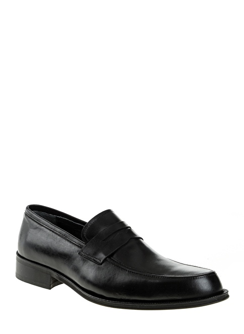 D by Divarese %100 Deri Makosen Ayakkabı Siyah